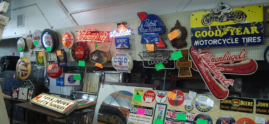 original vintage metal signs