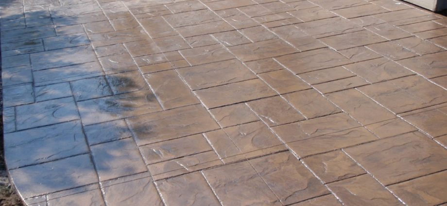 stamped concrete patterns and colors